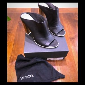 VINCE Allison mules -SIZE- 9 1/2- BLACK